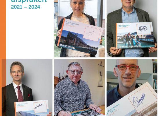 Woningbouwcorporaties, huurdersvertegenwoordiging en gemeente Oss tekenen de nieuwe Meerjarige Prestatieafspraken